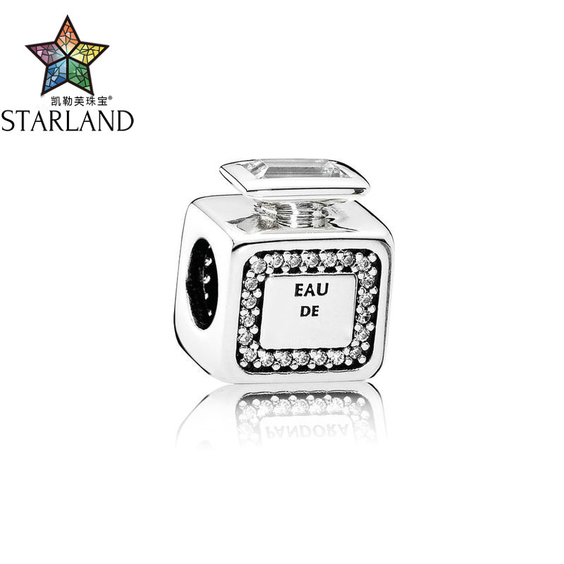 Starland 2018 New Original 925-sterling-silver Signature Scent Perfume Bottle Charm Beads Jewelry Making DIY Jewelry GifStarland 2018 New Original 925-sterling-silver Signature Scent Perfume Bottle Charm Beads Jewelry Making DIY Jewelry Gif
