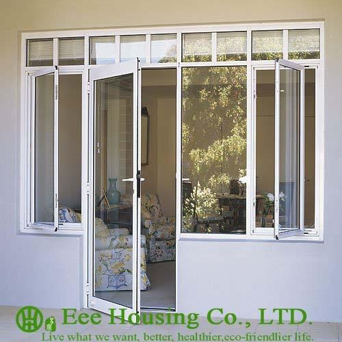 Soundproof Insulated Glass Aluminum Casement Door & Window, Powder Coating Latest Design Aluminum Casement  Door