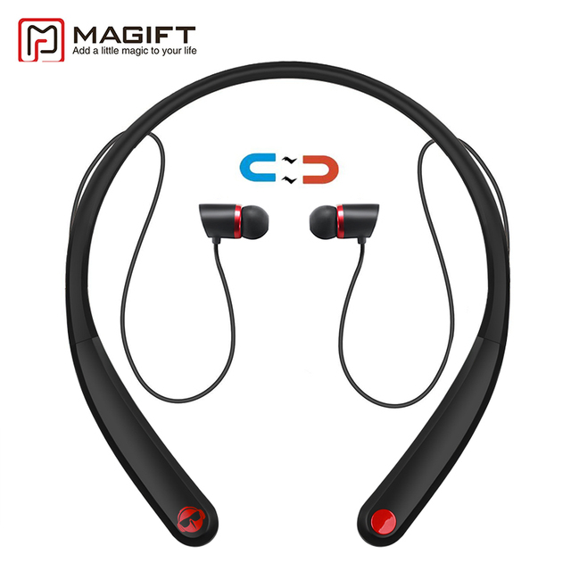 Magift Auricolari Bluetooth HV990 Magnetico Senza Fili Cuffia Neckband Auricolare  Stereo con Microfono per iPhone7 Android 11f3028f8b05