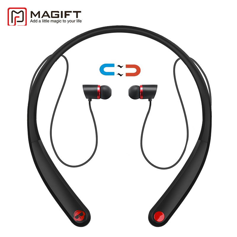 Magift Bluetooth Headsets HV990 Wireless Magnetic Headphone Neckband  Stereo Earphone with Microphone for iPhone7 Android lexin 2pcs max2 motorcycle bluetooth helmet intercommunicador wireless bt moto waterproof interphone intercom headsets
