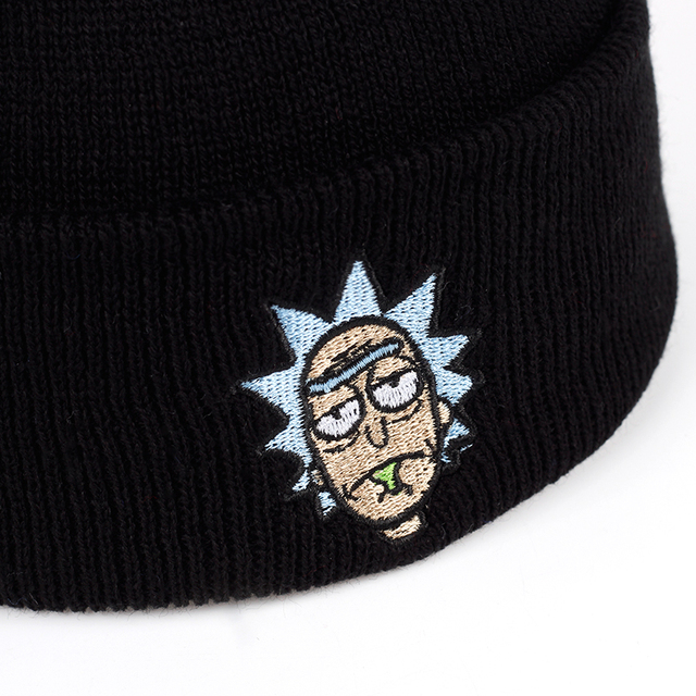 Elastic Brand Embroidery Warm Winter Unisex Knitted Hat 4