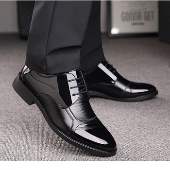 New Spring Oxford Business Men Shoes Genuine Leather High Quality Breathable Men's Flats Zip Shoes 2