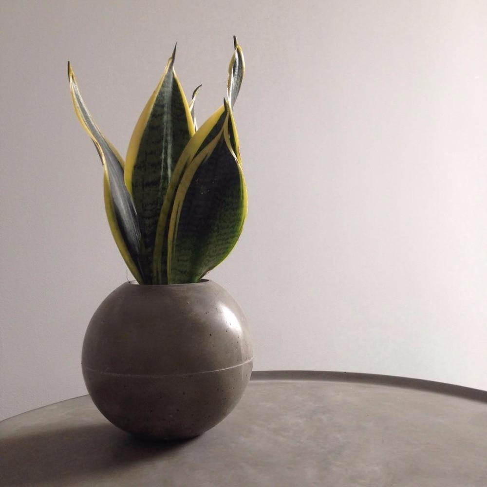 Pot de fleur sphérique silicone moule géométrie vase moules béton planteur moules en forme de boule silicone moules