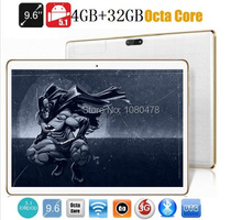 9.6 pulgadas 4G tablet pc Octa core bluetooth wifi GPS 1280*800 5.0MP 4 GB 32 GB Android 5.1 3G Phablet WCDMA MID DHL Libre gratis