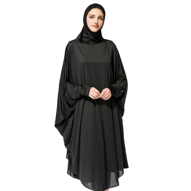 Women Prayer Garment Black Face Cover Abaya Islamic Khimar Muslim Clothes Headscarf Robe Kimono Instant Long Hijab Arab Worship