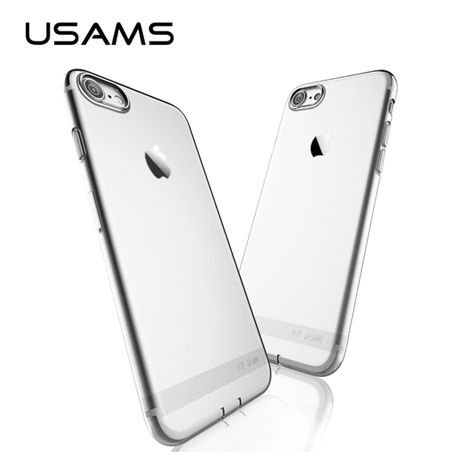USAMS Luxury TPU Case For iPhone 7 & iPhone 7 Plus Case 0.8mm Ultra Thin Case for iPhone7 4.7 & 5.5 Cover with Dust Plug Design