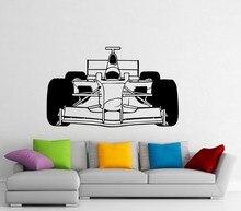 Formula One Car Wall Sticker Vinyl Sport Race Racing Interior Home Art Murals Bedroom Decor