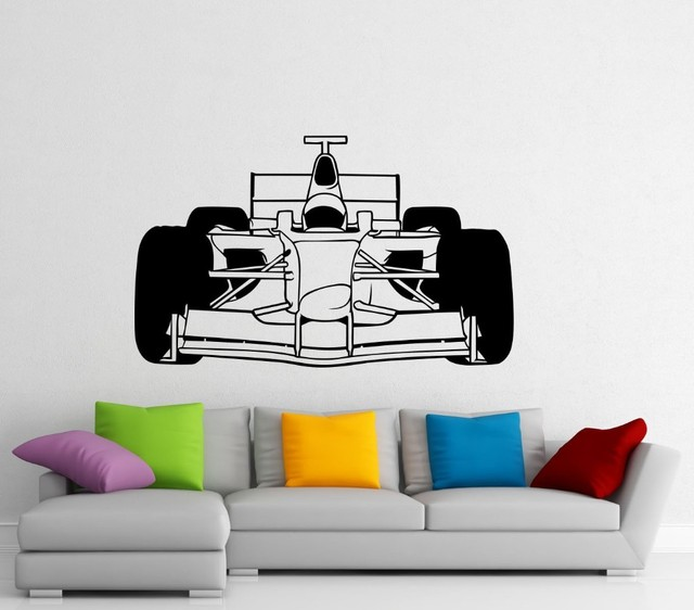 Formula one car wall sticker wall vinyl sticker sport race car racing interior home art wall