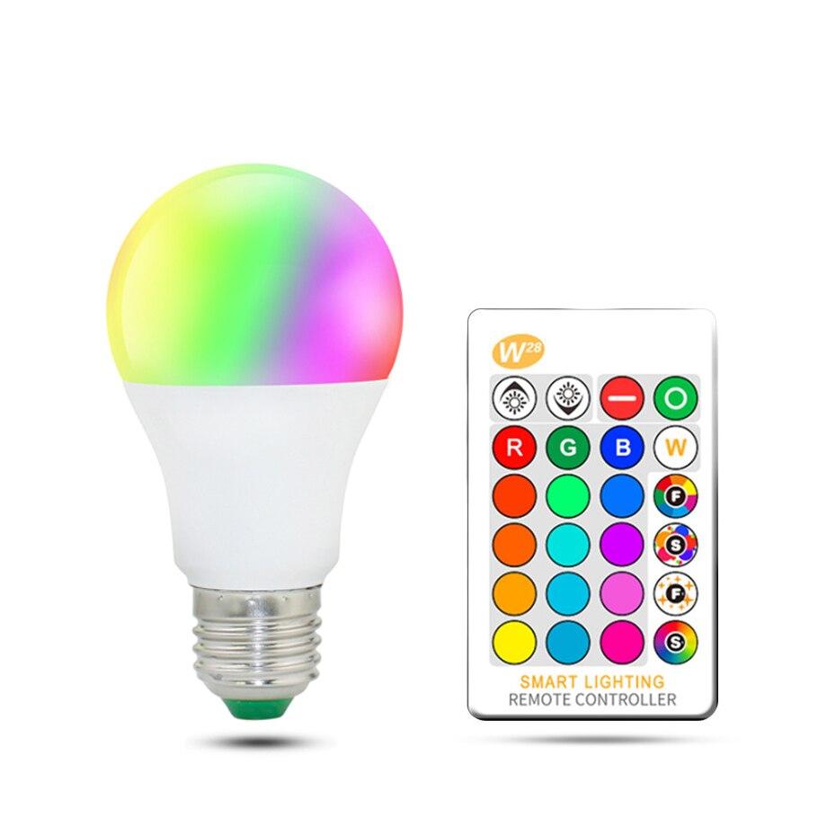 LED RGB Bulb lamp AC85-265V Spot light dimmable magic Holiday RGB lighting+IR Remote Control 16 colors 5W 10W 15W стоимость