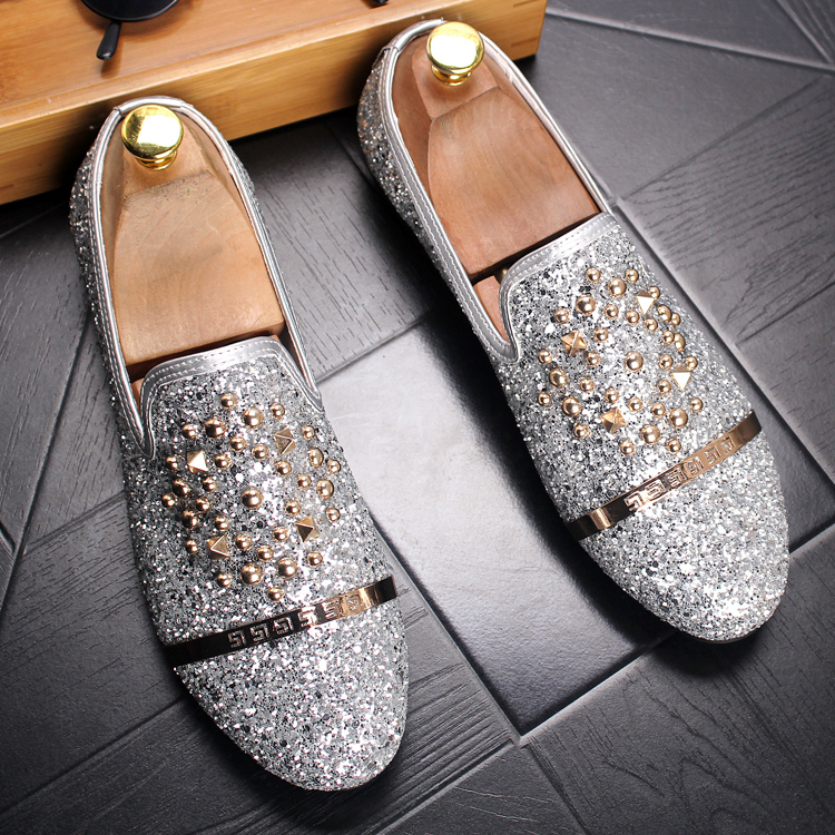italian design brand men luxury wedding nightclub dresses genuine leather rivets shoes slip on driving shoe young loafers summer 37 46 animal prints leopard genuine leather business shoes fashion brand design elevator wedding shoe for men nightclub wear