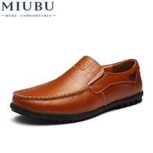 MIUBU Design Genuine Leather Shoes Men Loafers Flat Slip On Male Sneakers Leather Moccasins Casual Shoe Men Leather Footwear все цены