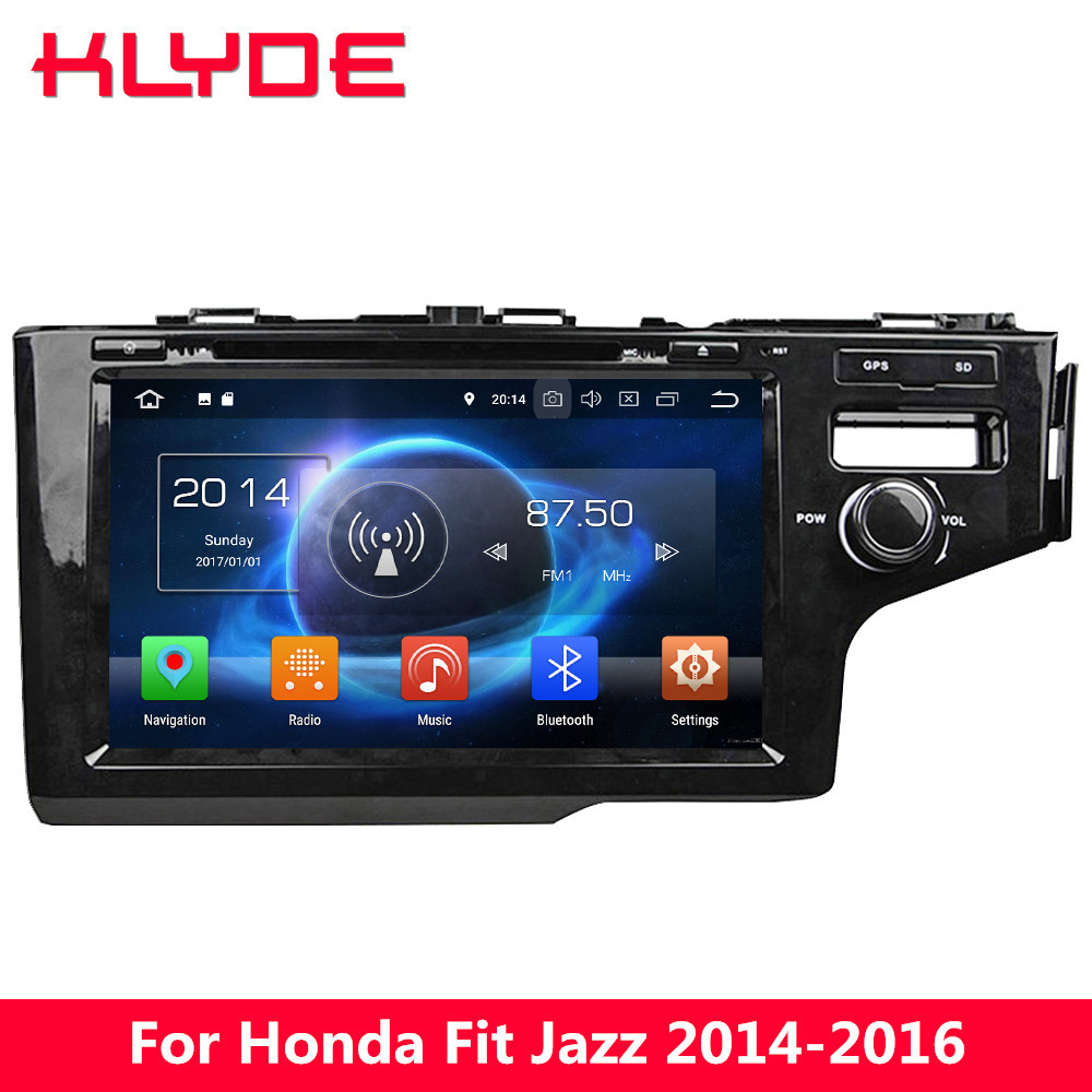 """KLYDE 9"""" IPS 4G Android 8.0 7.1 Octa Core 4GB RAM 32GB ROM RDS Car DVD Player Radio Stereo Glonass For Honda Fit Jazz 2014 2016-in Car Multimedia Player from Automobiles & Motorcycles    1"""