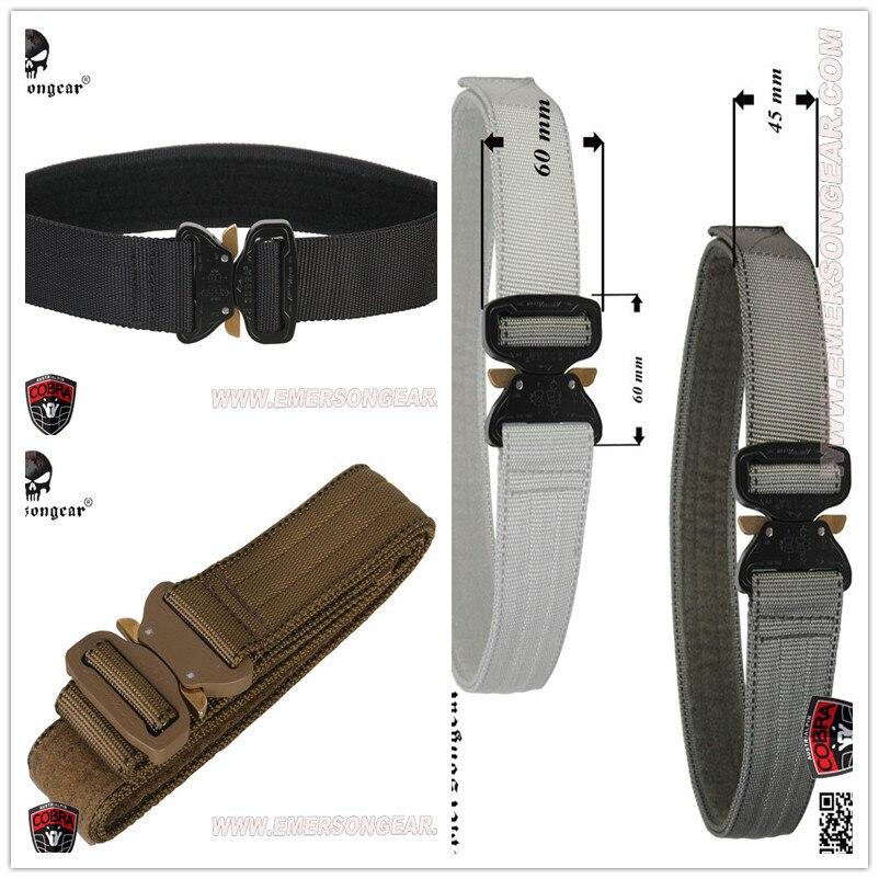 Prix pour EmersonGear Cobar 1.75 pouces intérieure ceinture Surplus Tactique Heavy Duty Nylon CO soutien-gorge Boucle Pistolet Pistolet EDC Ceinture Tactique Taille soutien