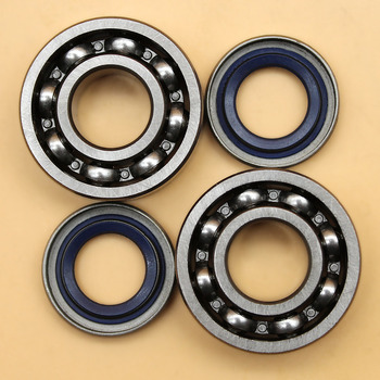 Crankshaft Ball Bearing Oil Seal Set For HUSQVARNA 254 257 262 357 359 51 55 Chainsaw Parts alloy chainsaw crankshaft bearing oil replacement gasoline chainsaw spares parts for outdoor power equipment