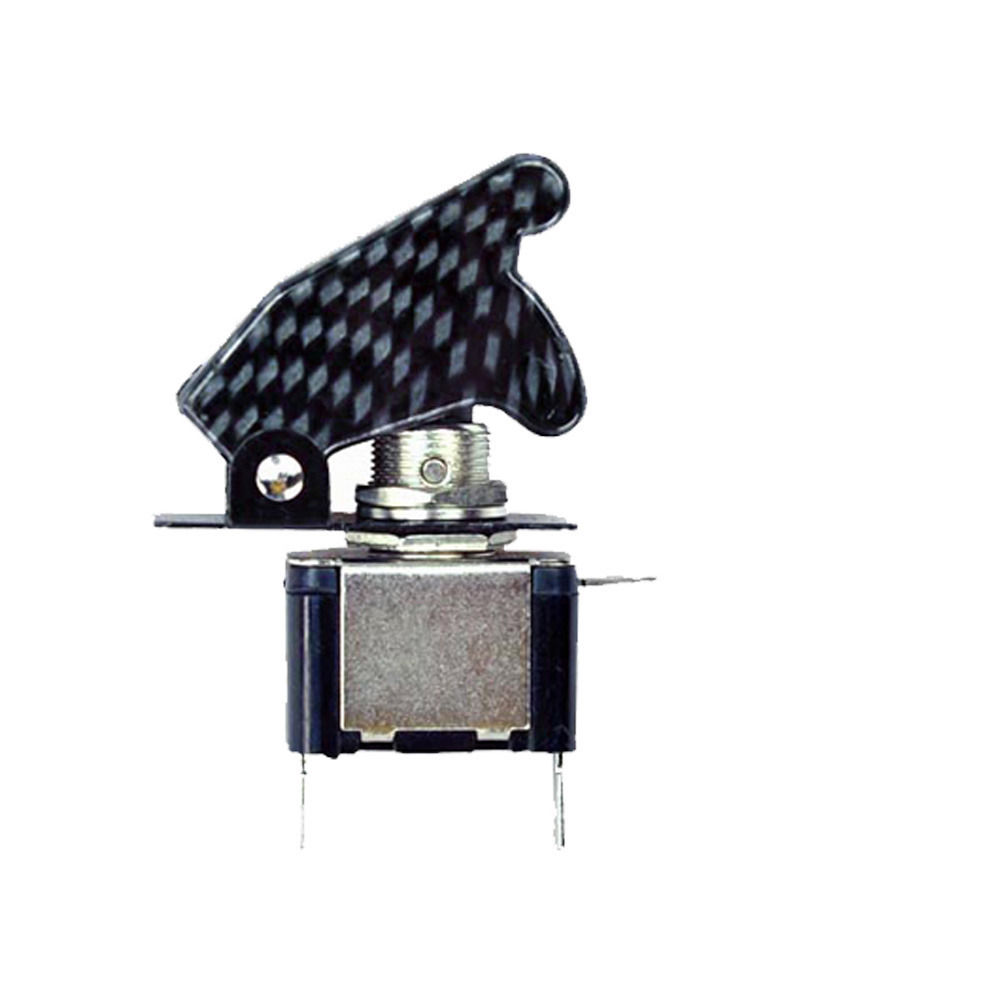 EE support 2Pcs LED Light Switch 12V 20A Carbon Fiber Rocker Toggle Switch SPST Control ON/OFF Car Accessories XY01