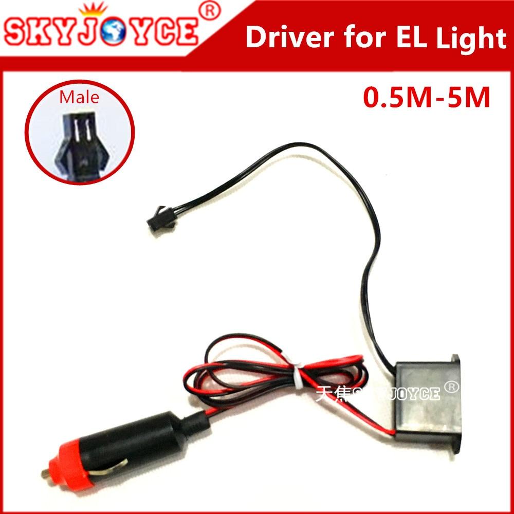 10X EL Tape 12V Inverter ballast driver Cigarette lighter plug Neon ...