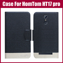 Hot Sale! HomTom HT17 pro Case New Arrival 5 Colors Fashion Flip Ultra-thin Leather Protective Cover For HomTom HT17 pro Case