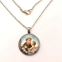 GDRGYB 2019 St Anthony of Padua Saint necklace St Anthony Jewelry Cabochon Religious Religious Gift necklace anthony j steinbock phenomenology and mysticism the verticality of religious experience