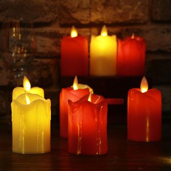 3 sztuk partia Led świeczka bez ognia plastikowe symulowane płomień LED świeca urodzinowa światła świąteczne dekoracje do domu na imprezę tanie i dobre opinie moobesid Bezpłomieniowe CD-L888C Wesela plastic Świeczka led Świeca lampy Filar 5*5cm 5*7 5cm 5*10cm 3*AG13 Yellow Cylindrical Flickering LED Candle Light Flameless
