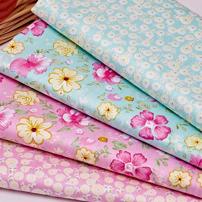 1686b05ec7 4 PZ 20x25 CM Il Panno di Tessuto di Cotone Broccato Floreale Copriletto Tessuto  per il