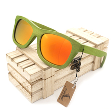 BOBO BIRD Green Bamboo Sunglasses Women Polarized Sun Glasses for Men Fashion Eyewear Oculos Drop Shipping OEM C-BG017
