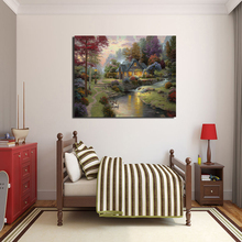 Thomas Kinkade Stillwater Cottage Wall Art Canvas Painting Poster Prints Modern Picture For Living Room Home Decor