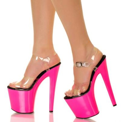 Super High Platform PVC Transparent Women Sandals Cut-out Peep Toe Gladiator Dress Shoes Pink Black Patchwork High Heeled ShoesSuper High Platform PVC Transparent Women Sandals Cut-out Peep Toe Gladiator Dress Shoes Pink Black Patchwork High Heeled Shoes