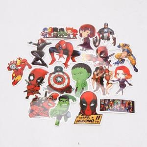 Image 5 - 101pcs/set Juguetes de Marvel Los Vengadores Endgame  Pegatinas Superhéroe Hulk El Hombre Hierro Hombre Araña Capitán América Sticker de carro para Luggage