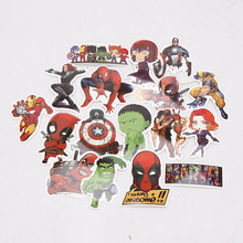 101pcs/set Marvel Toys Avengers Endgame Stickers Super Hero Hulk Iron Man Spiderman Captain American Car Sticker for Luggage
