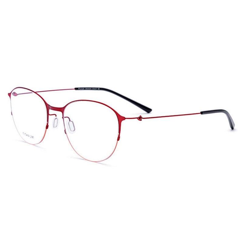 JQ28612 Titanlegierung Vollrand Brillen Rahmen Quadratische Form Marke Brillen Brillen brillen für Frauen
