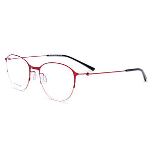 Image 1 - JQ28612 stopu tytanu pełna obręczy okulary ramki kwadratowe moda marka okulary na receptę okulary okulary dla kobiet