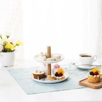 050 модная съемная деревянная клюшка двухэтажная Дыня тарелка для фруктов коробка конфет Фруктовая тарелка 21,2*21,2*19 см