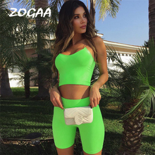 Sexy Short Two Piece Set Crop Tops and Biker Shorts Green Rose Red Spaghetti Straps Bodycon Matching Sets Summer Clothes Women