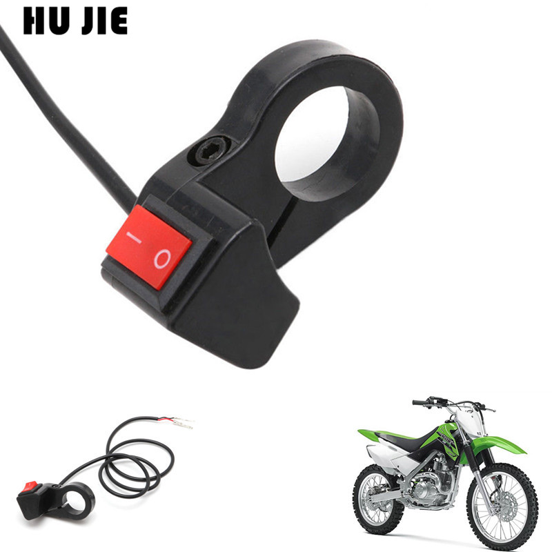Universal Motorcycle Handlebar Flameout <font><b>Switch</b></font> ON OFF Button for Moto Motor <font><b>ATV</b></font> Bike DC12V/10A Black image