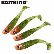 KastKing 6pcs/lot 70mm 3g 5 Colors 3D Simulation eyes Artificial Fishing Bait For Fishing Lure Soft Lures Silicone Baits
