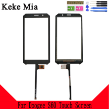Keke Mia 5.2 inch 100% New S60 Touch Glass Front Glass For Doogee S60 Touch Screen Glass Digitizer Panel Sensor Tools gp570 sg11 24v touch glass touch screen panel new