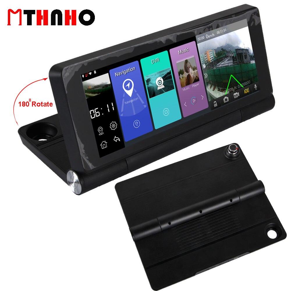 imágenes para HD Coche lleno DVR de Navegación GPS Android Táctil de 7 pulgadas Cámara Dual WiFi de la Cámara Auto Consola Central Del Coche Video Recorder Dash Cam ADAS