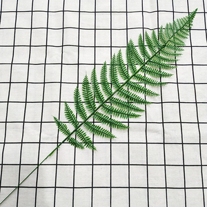 Image 5 - 20pcs Plastic Artificial Palm Tree Leaves Branch Green Plants Fake Tropical Leaf Home Wedding Decoration Flower Arrangement