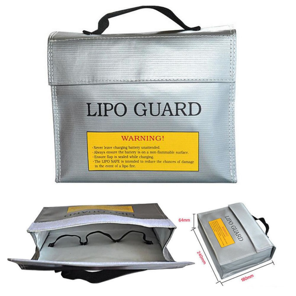 235 * 180 * 65 mm LiPo Safe Battery Charging Protection Bag Explosion Proof explosion proof lithium battery bag case 220 180 mm