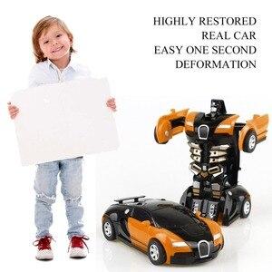 Image 2 - Robot de Transformation jouet voiture Anime figurine jouets ABS en plastique Collision transformant le modèle cadeau pour les enfants