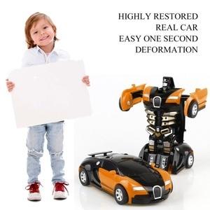 Image 2 - Transformatie Robot Speelgoed Auto Anime Action Figure Speelgoed ABS Plastic Botsing Transforming Model Cadeau voor Kinderen