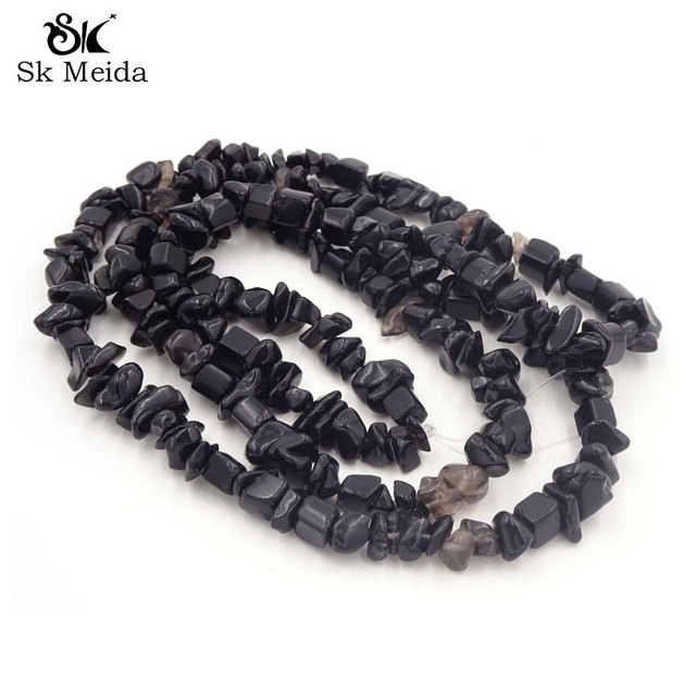 Black Color Simulated Onyx Stone Mix Beads 5 8mm Stones Bijouterie