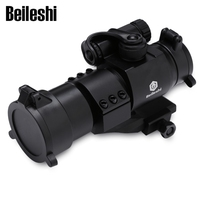 Beileshi 32mm M2 Sighting Telescope Laser Sight with Reflex Red Dot Scope for Picatinny Rail