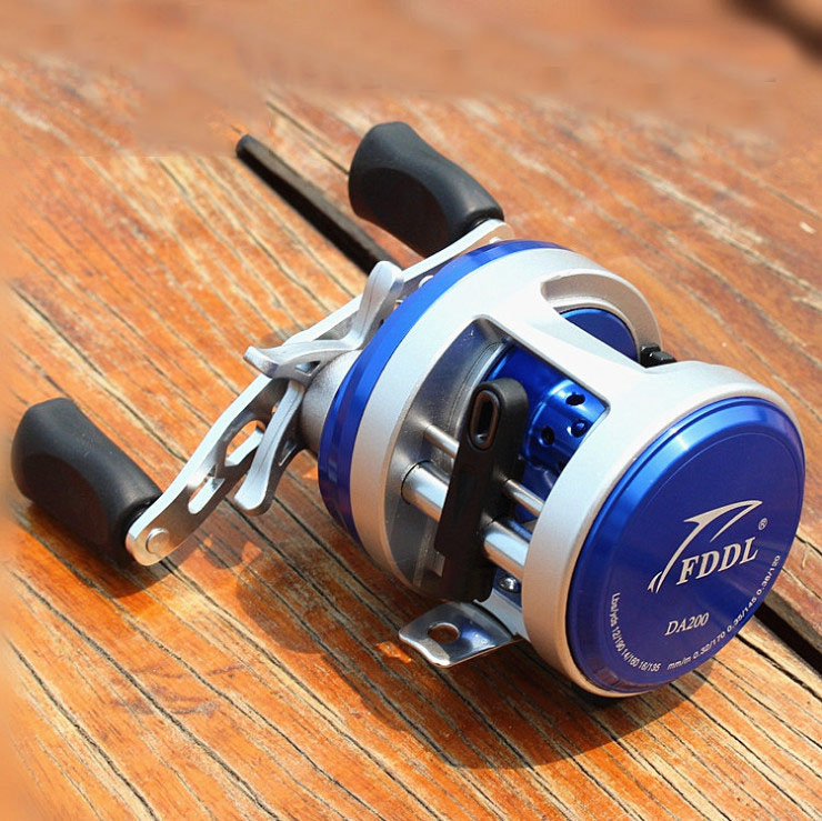 FDDL authentic DA series 12 drum shaft left/right hand drum wheel metal sea fishing reels 2015 lateral round metal drum wheel right hand cl20 90 sea boats fishing benchmark lure reel fishing tackle lures reels