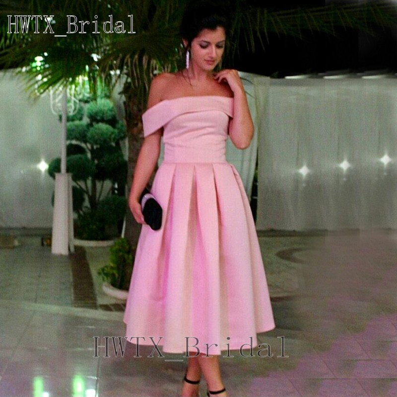 Mother-Of-The-Bride-Dresses Formal-Gowns Weddings Party Off-Shoulder Plus-Size Pink Satin