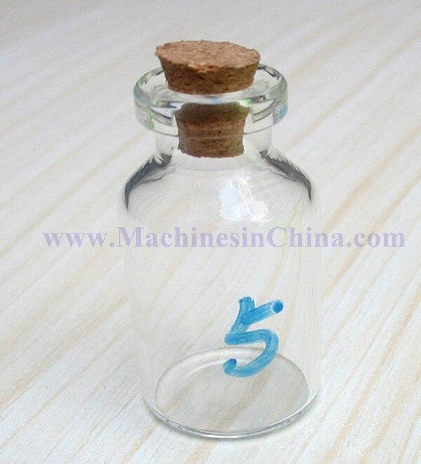100pcs 5ml Glass Bottle with soft-cork stopper