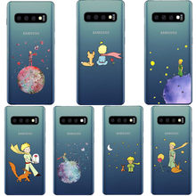 Cartoon king The Little Prince earth space Clear Silicone Phone Case Cover For Samsung Galaxy S5 S6 S7 Edge S8 S9 S10 Plus Note9(China)