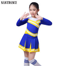 dae3e75a Children Academic Dress Primary School Uniforms Set Girl Cheerleader Cheer  Leaders Costume Boy Aerobics Clothing Girls