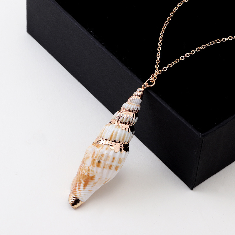 Hot Sale 2f7c 2019 New Fashion Natural Beach Conch Necklace
