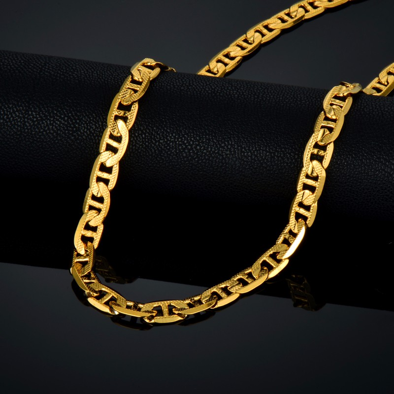 for item gold chains chain vintage color jewelry wholesale men hiphop plated long rope necklace kpop glod